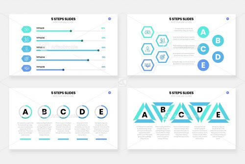 Инфографика из 5 шагов