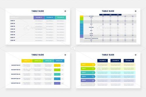 Варианты таблиц - инфографика