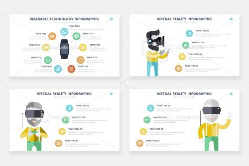 Инфографика IT-технологий и виртуальной реальности