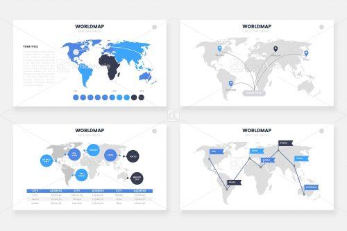 Инфографика карты мира