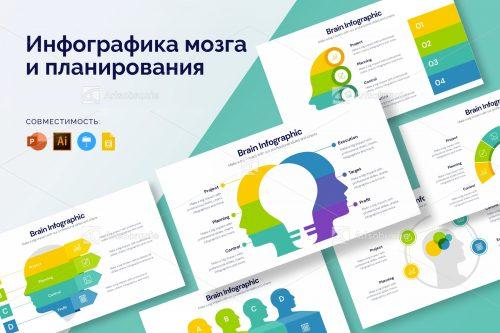 Инфографика мозга и планирования